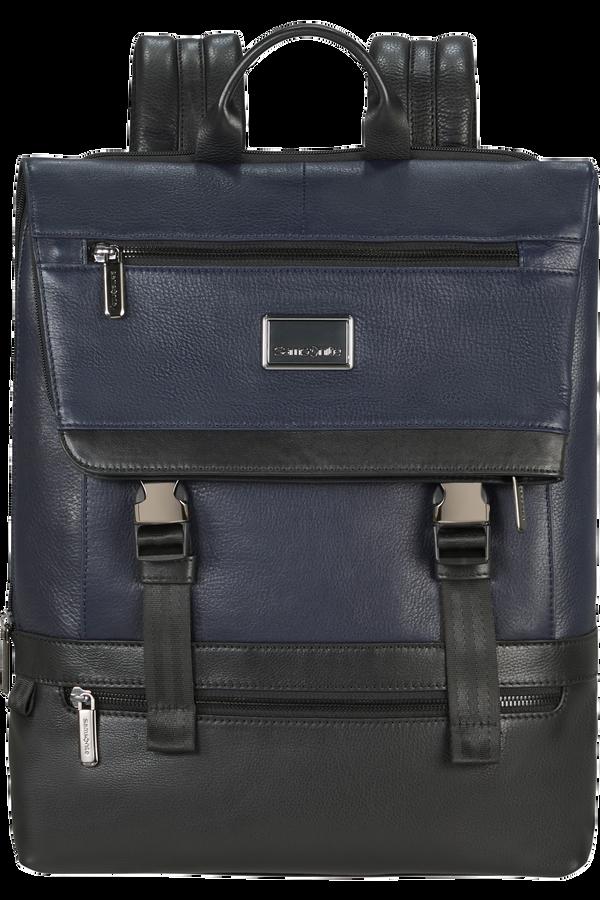 Samsonite Waymore Lth Laptop Backpack Flap Slim  15.6inch Blue