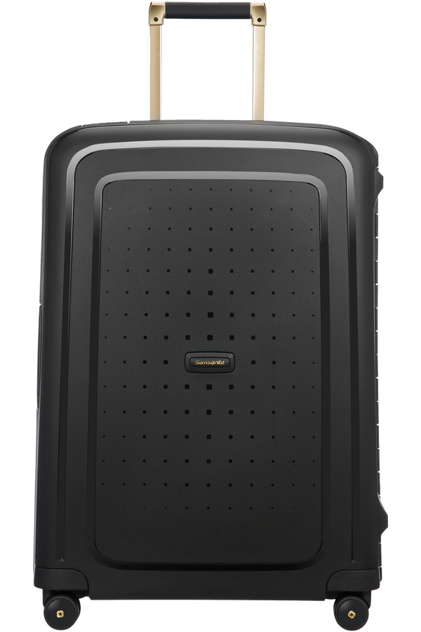 Samsonite S'Cure DLX Spinner 69cm/25inch  Black/Gold Deluscious