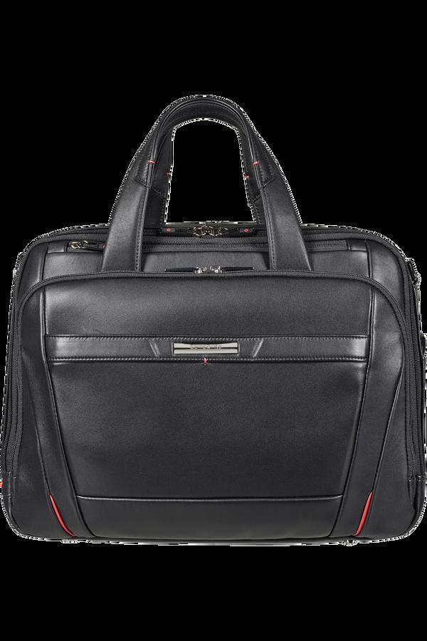 Samsonite Pro-Dlx 5 Lth Laptop Bailhandle Expandable  15.6inch Black