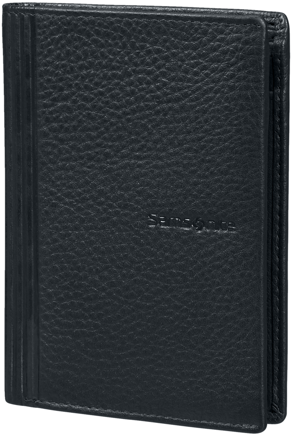 Samsonite Double Leather Slg 137 - W 6CC+HFL+2W+2C  Black