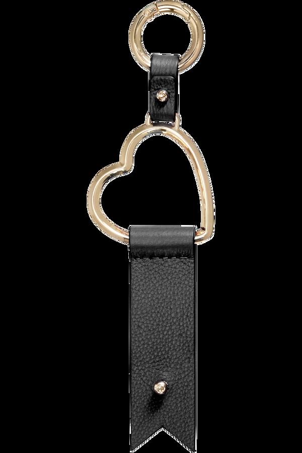Samsonite Lady Charmy Heart Key Ring  Black