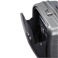 Fully featured front pocket designed to offer great access to travel documents, business and personal belongings